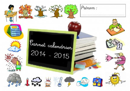 carnet calendrier pour l 39 ann e scolaire 2015 2016 kalolan a. Black Bedroom Furniture Sets. Home Design Ideas
